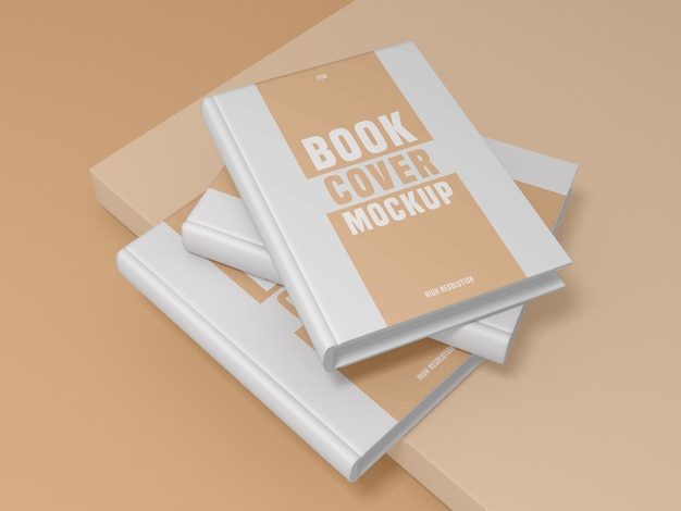 Book cover design mockup psd