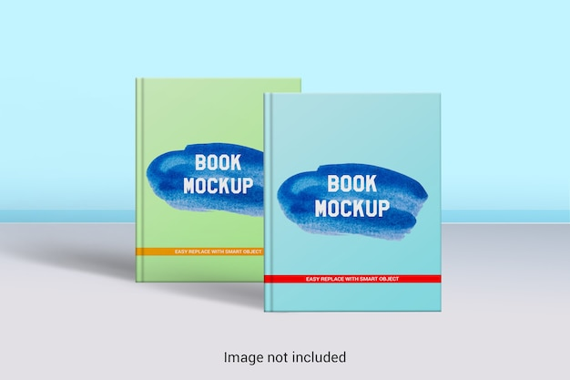 Book cover mock-up  a4 size