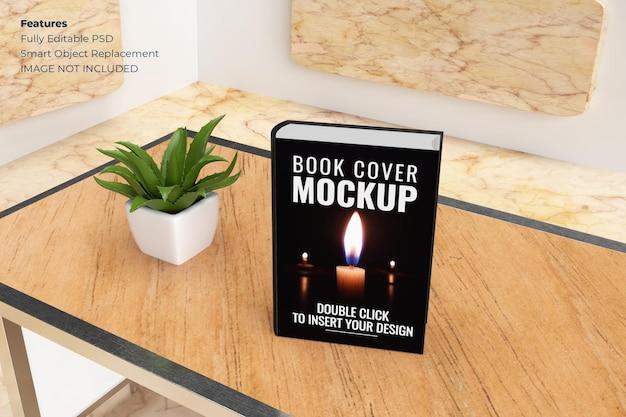 Book cover mockup in 3d rendering