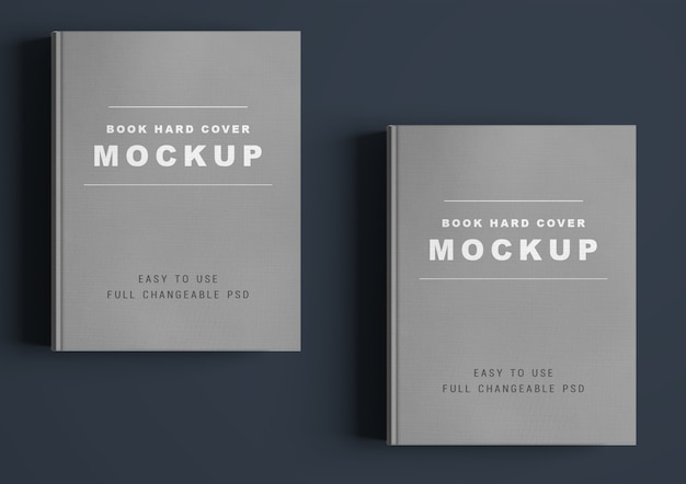 Book cover mockup design isolated