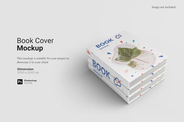 分離されたブックカバーのモックアップデザイン