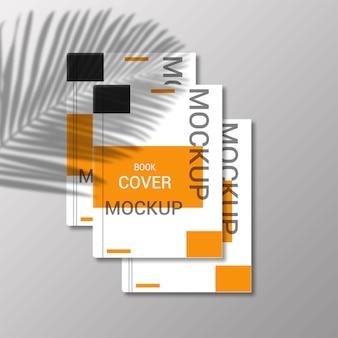 ブックカバーのモックアップデザインのレンダリング Premium Psd