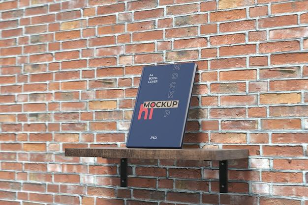 Book cover mockup on hanging desk