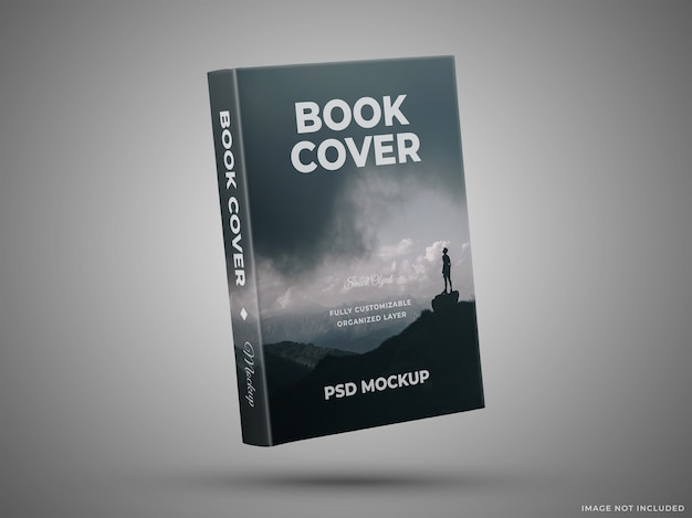 Book cover mockup isolated