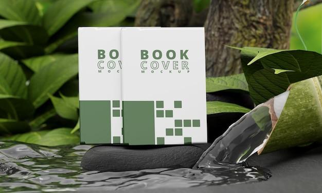 Макет обложки книги с концепцией природы