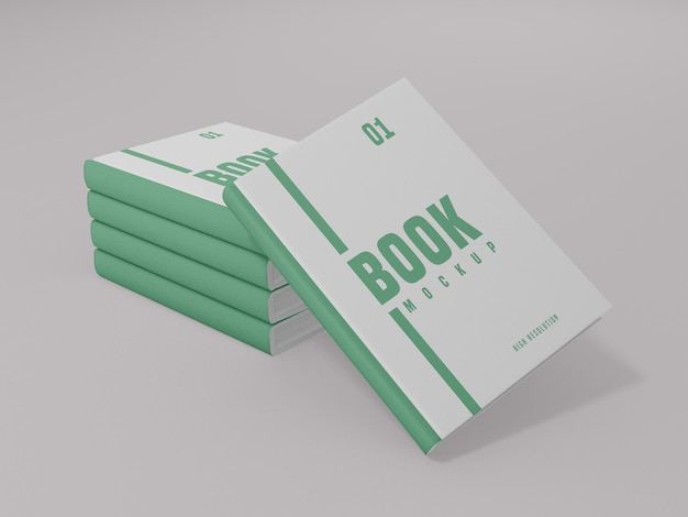 책 표지 모형