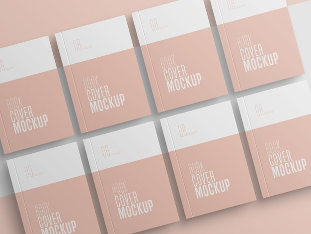 Book cover multiple mockup