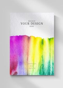 Copertina del libro psd mockup con illustrazione vintage, remixata da ar