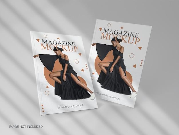 Book editorial magazine cover mockup