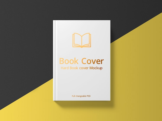 Book hard cover mockup