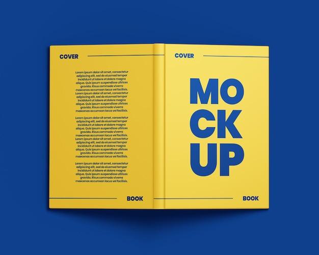 Книжный макет в твердом переплете вид сзади и спереди