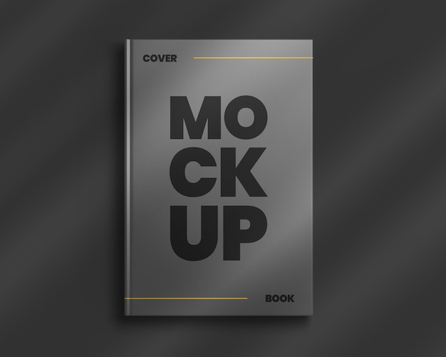 Book hardcover mockup with shadow