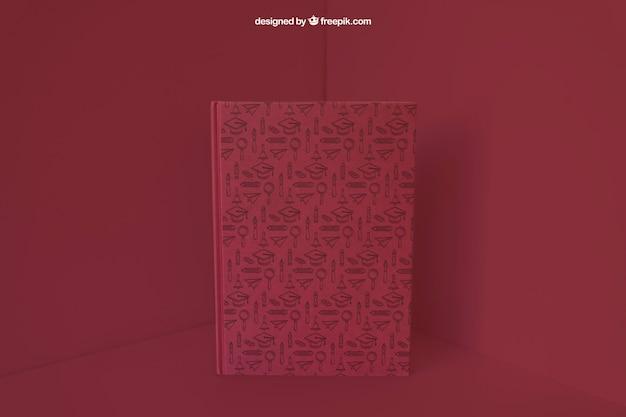 Книга в углу с эффектом красного цвета