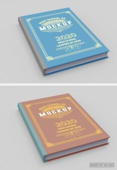 Мокап с матовой обложкой для книги