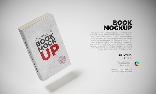 Book mockup in 3d rendering