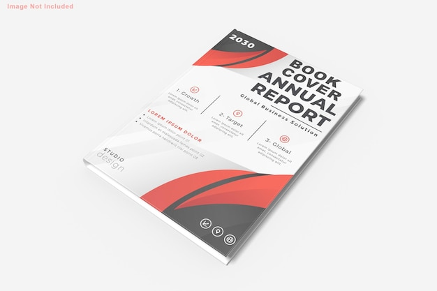 Book mockup design isolated