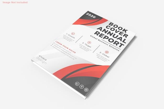 分離された本のモックアップデザイン