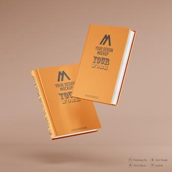 Книжный макет, изолированные на мягком цветном фоне