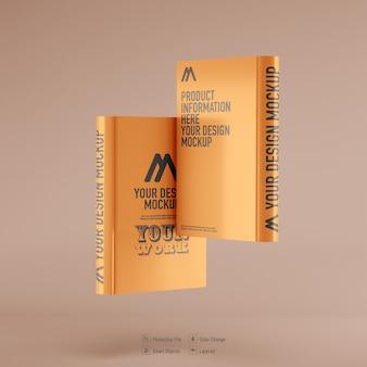 부드러운 색상 배경에 고립 된 책 모형
