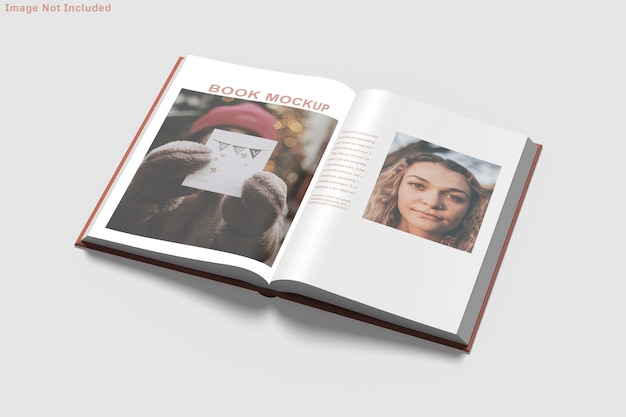 Книжный макет изолированные