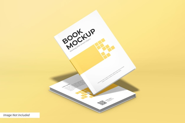 Book mockup perspective view