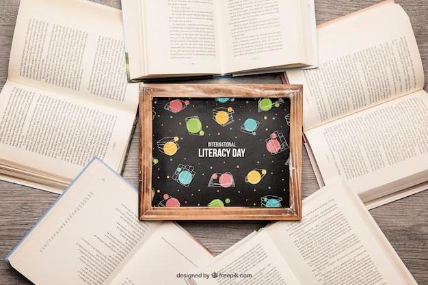 Книжный макет со сланцем