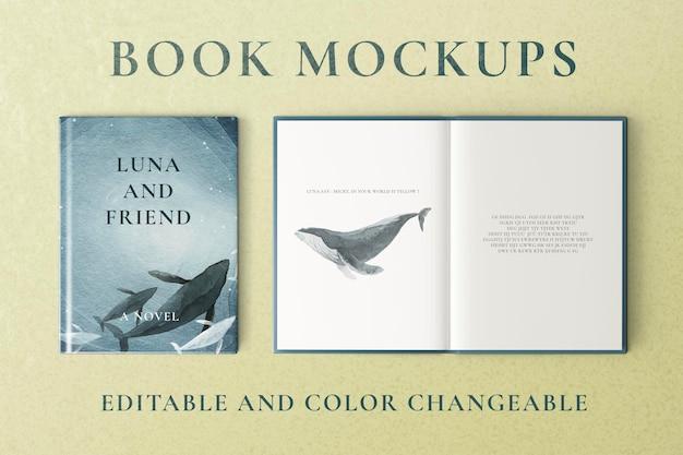 Книжные макеты psd, редактируемый цвет, изменяемый дизайн