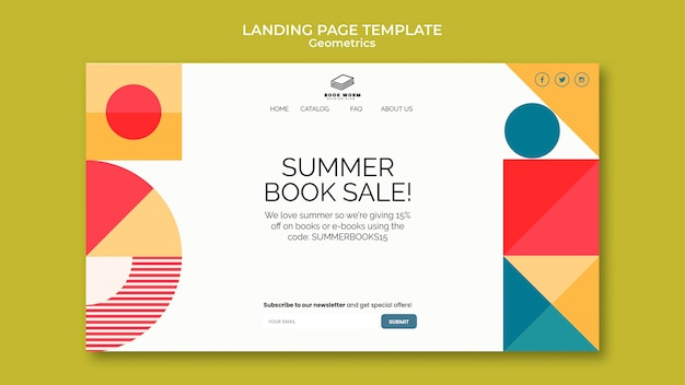 Book outlet landing page template