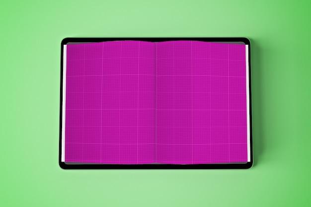 Book tablet mockup