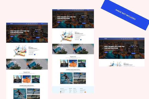 The booking travel web template