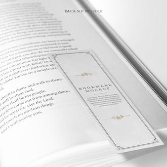 Bookmark design mockup editable layers