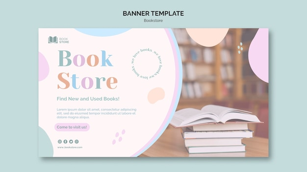 Bookstore ad banner template