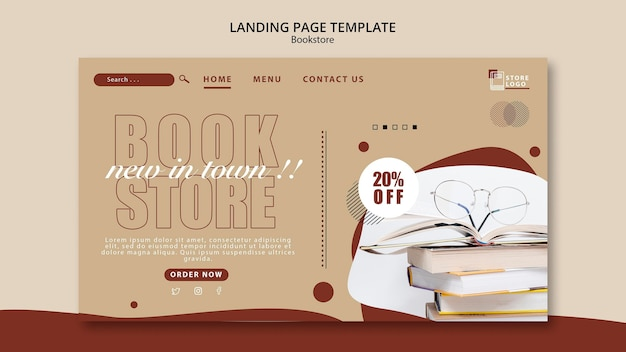 Bookstore ad landing page template