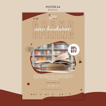 Bookstore ad poster template