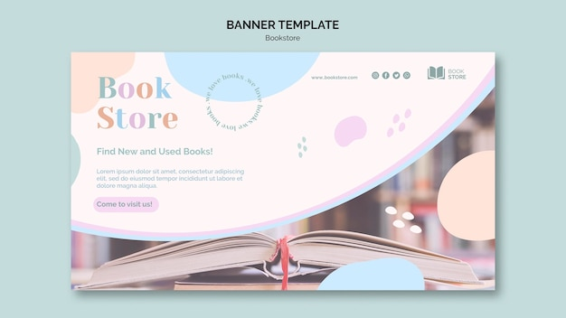 Bookstore ad template banner