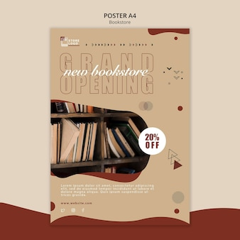 Bookstore ad template poster