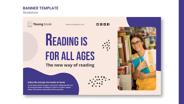 Bookstore banner template