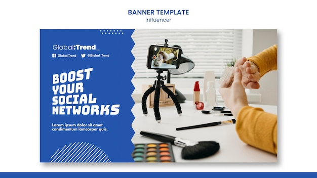 Boost social networks banner template