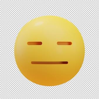 Скучающее лицо смайлики 3d иллюстрация
