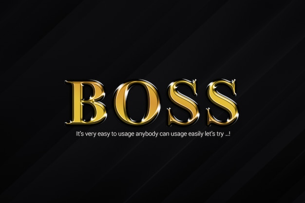 Boss text style effects