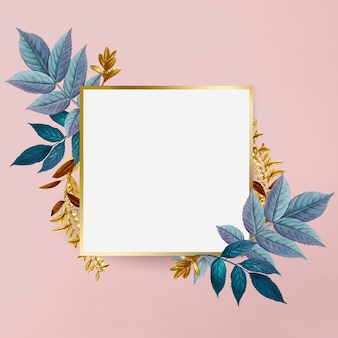 Botanical golden frame