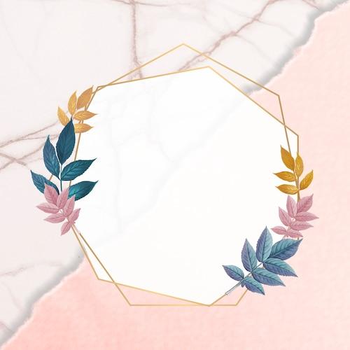Botanical golden frame