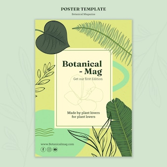 Botanical magazine poster template