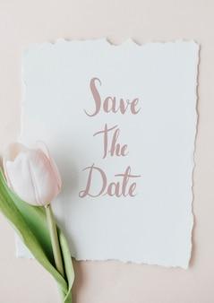 Ботанический макет свадебного приглашения
