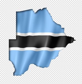 Botswana flag map
