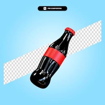 Бутылка 3d визуализации изолированных иллюстрация
