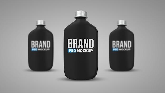 ボトル3dレンダリングモックアップデザイン