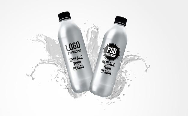 Бутылка 3d рендеринга дизайн макета