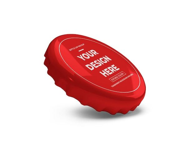 Bottle cap mockup isolated