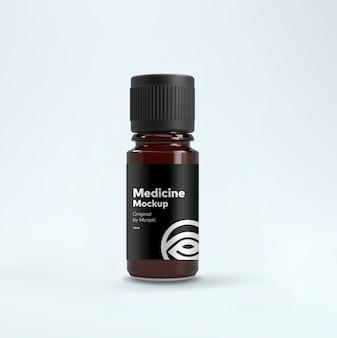 Bottle medicine label mockup